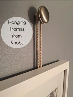 A fun way to hang picture frames that looks great!