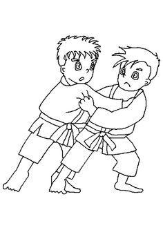 Judo Coloring Pages For Kids Knutselen Kleurplaten