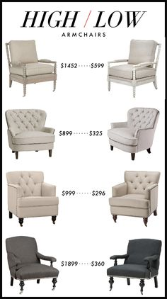 Kelly Market: HIGH/LOW: ARMCHAIRS