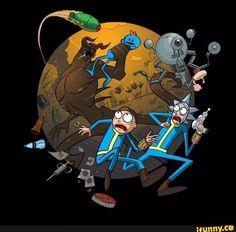 RickandMorty, Fallout4