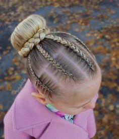 85 Box Braids Hairstyles for Black Women - Hairstyles Trends Box Braids Hairstyles, Baby Girl Hairstyles, Kids Braided Hairstyles, Trendy Hairstyles, Gymnastics Hair, Hairstyles For Gymnastics, Competition Hair, Girl Hair Dos, Natural Hair Styles