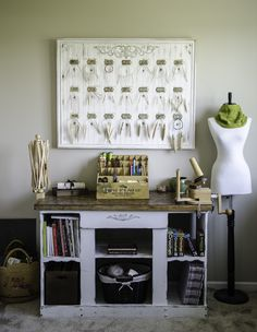 I don't think I would do this particular project, but I like this space and it has me thinking about storing my circs. circularneedlerack
