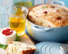 Brød med tranebær, rosmarin og havsalt