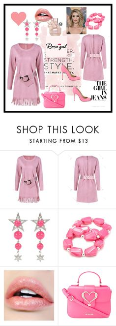 """""""Rose gal  46"""" by fatimazbanic ❤ liked on Polyvore featuring Whiteley, Miu Miu, Kim Rogers, Love Moschino and Christian Louboutin"""