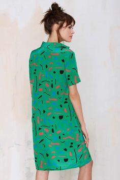 Dusen Dusen Confetti City Silk Dress - Sale: 30% Off | Dresses