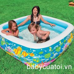 Bể bơi phao INTEX đại dương vuông 57471