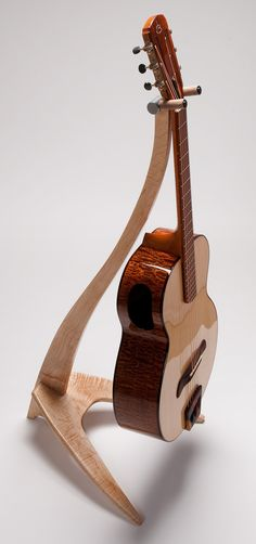 Handcrafted Custom WM Guitar Stand Curly Maple by Tasi1967, $350.00