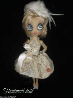 Cyndi doll hand made cloth art doll, shabby chic ,collectable doll