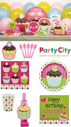 Birds Party Blog: GIVEAWAY: Win a $200 Cupcake Themed Birthday in a Box from Party City!!