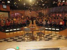 The view from the stage at the @Rachael Ray Show   http://rachaelraymag.tumblr.com/post/27335652783/behind-the-scenes-rachael-ray-show