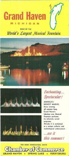 Grand Haven Michigan Vintage Brochure