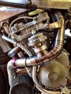 Guy Martin GSX-R 1100 Turbo. i want a turbo on my bike Custom Motorcycles, Custom Bikes, Cars And Motorcycles, Guy Martin, Gsxr 1100, Suzuki Motorcycle, Suzuki Bikes, Motorcycle Engine, Motorcycle Parts