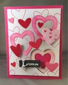 Samantha's Cards: Ombré Valentine