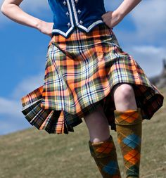 Dancing up a storm. Can't you hear the bagpipes?..............