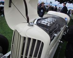 Engine compartment: 1931 Duesenberg Cummins Diesel Special