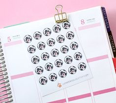 Soccer ball stickers 25 x matte planner stickers by lepaperhouse