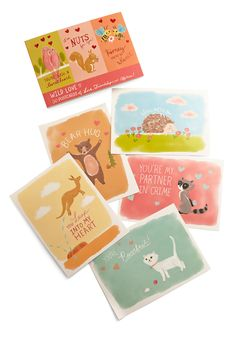 Buy Office Decor from ModCloth curated collection of decor & gifts. Find Office Decor that come in unique styles, colors & various price points. Cute Apartment Decor, Love Mail, Postcard Book, Wild Love, Love Bear, Great Valentines Day Gifts, Mail Art, Modcloth, Paper Goods