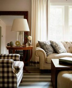 love the striped floor. grey and white. Decor, Living Room, House Design, Home Living Room, Dream Floors, Interior, Home Decor, Hearth Room, Home And Living