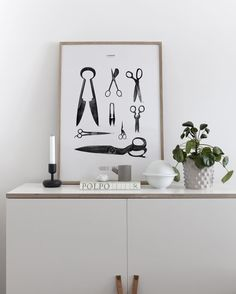 'Cædere' print in our living room - available on cocolapine.com #cocolapine