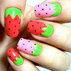 Want to have a crack at nail art? Looking for cute and easy nail art ideas and designs? Here are some fun DIY nail art tutorials for you to try out! Fruit Nail Designs, Cute Nail Designs, Pretty Designs, Nail Art Diy, Diy Nails, Manicure Ideas, Nail Tips, Nail Art Inspiration, Design Inspiration