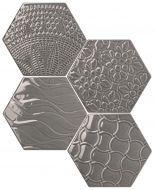 #Exarel Bright #Tonalite #Exabright #Tiles #Piastrelle #Carreaux #Azulejos #Hexagonal #Decorated #Texture #Wall Tiles #Floor Tiles #Backsplash #Kitchen #Bathroom