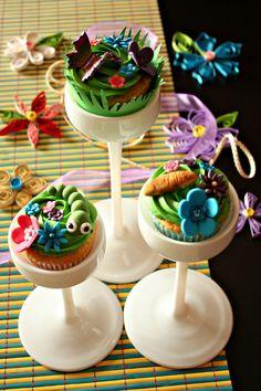 Primavera cupcakes! Evolución del cuco a mariposa
