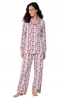 0dbfcb72a9 Vintage Santa Flannel Pajamas Flannel Pajamas