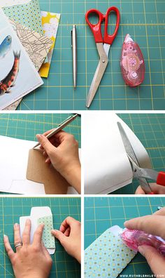 Pretty envelopes! Make template, cut out envelope from your fave paper, glue seams, et voila!