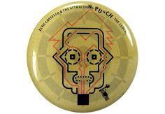 Pin for Elvis Costello's 1983-album Punch the Clock. Thanks to Brian Cassidy for the tip.