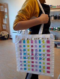 knutselen, tas, verven, knutselclub, kinderfeestje, kinderen Workshop, Atelier