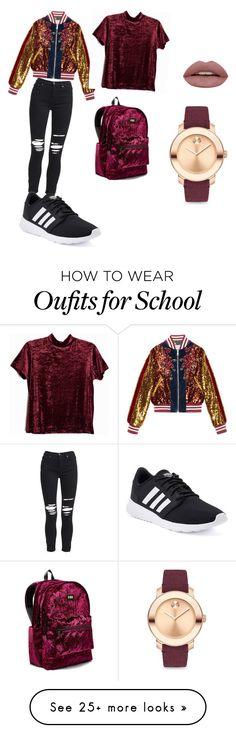 """back to school"" by simonavartolomei334 on Polyvore featuring Gucci, AMIRI, adidas, Victoria's Secret and Movado"