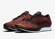 fa30be2976522 Nike Flyknit Racer Fire Rooster University Red Black Mens 526628-608 Size  9-11