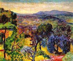 Pierre Bonnard - Le Cannet Landscape - 1935