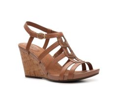 Clarks Kyna Wise Wedge Sandal - black wedges for the summer