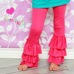 Girls Ruffle Leggings Sewing Pattern