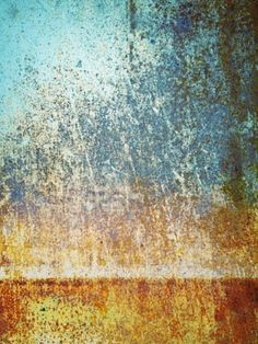 blue to rust ombre...i'd like to figure out how to do this on one wall in my dining room
