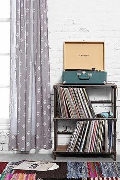 Urban Outfitters Étagère pour disques vinyle style industriel