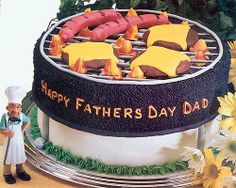 BBQ Grill Cake. Would LOVE to do this for Father's Day.