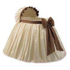 Elegant Ivory and Brown Bassinet - BedBathandBeyond.com