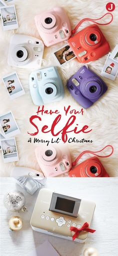 Capture your holiday memories the moment they happen with these Fujifilm Instax mini instant cameras that come in a variety of different colors. Then, use the Teresa Collins-approved Canon SELPHY Photo Printer to keep them forever! Give them as a gift or save them for yourself. Visit JoAnn.com for more info.