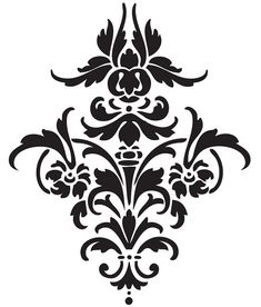 Damask Stencil Large by SyGuildmistress, via Flickr