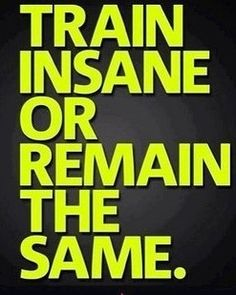 If it was easy, everyone would be doing it.  Stand apart from the rest.  Get fit or get out!