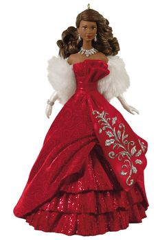 Celebration Barbie Ornament (African American) - Collectible Holiday Barbie Ornaments | Barbie Collector