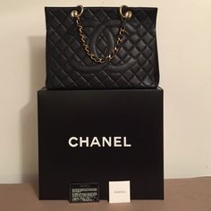 fe735dd025ee Authentic Chanel Caviar Black GST Authentic Chanel Caviar Black GST Black  Caviar w/ Gold Hardware box, card, serial sticker Exterior Caviar Leather,  ...