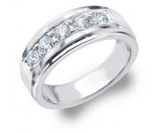 Mens Platinum Diamond Wedding Bands | Mens Platinum Diamond Wedding Rings