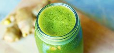 A Tasty Green Smoothie With A Ginger Kick! Yum.