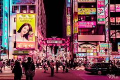 Brussels-based photographer Xavier Portela, took a series of Tokyo night pictures with a visit to the neon city. Tokyo Ville, Ville Rose, Neo Tokyo, Tokyo Night, Glow, Neon Aesthetic, Japanese Aesthetic, Cyberpunk Aesthetic, Cyberpunk City