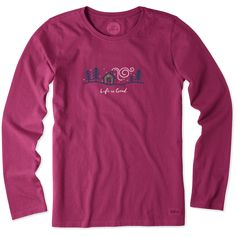 Women's Winter Home Long Sleeve Crusher Tee | Life is Good® Official Site