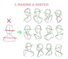 Drawing Body Poses, Body Reference Drawing, Art Reference Poses, Drawing Tips, Anime Drawing Tutorials, Drawing Techniques, Art Tutorials, Body Drawing Tutorial, Drawing Expressions