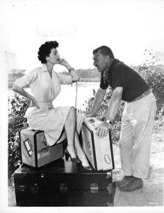 Still of Clark Gable and Ava Gardner in Mogambo (1953)
